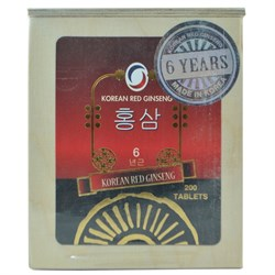 KOREAN RED GINSENG 60gr 200 TABLET
